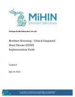 Newborn Screening – CCHD Use Case Scenario Implementation Guide